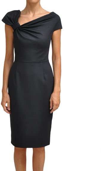 Valentino Asymmetric Neckline Dress - Lyst