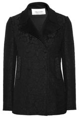 Valentino Lacecovered Wool and Cashmereblend Coat - Lyst