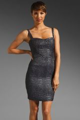 Z Spoke by Zac Posen Textured Crocodile Dress - Lyst