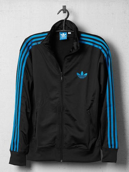 adidas adi firebird track jacket in blue for men black. Black Bedroom Furniture Sets. Home Design Ideas