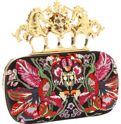 Alexander Mcqueen Unicorn Skull Clutch in Multicolor (i) - Lyst