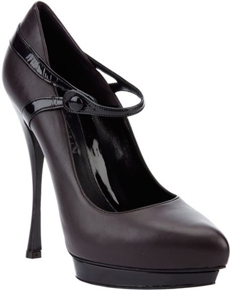 Alexander Mcqueen Stiletto Mary Janes in Black (plum) - Lyst