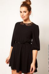 Asos Curve Skater Dress with Lace Peter Pan Collar - Lyst