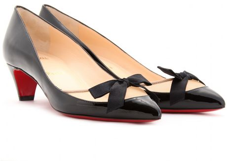 Christian Louboutin Love Me 45 Patent Leather Pumps in Black - Lyst