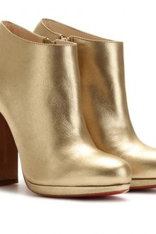 Christian Louboutin Rock and Gold 120 Leather Ankle Boots - Lyst