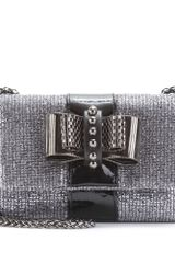 Christian Louboutin Sweet Charity Lady Glitter Clutch in Silver - Lyst