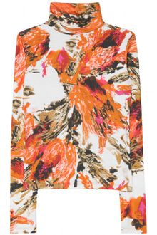 Erdem Kelly Printed Turtleneck Pullover - Lyst
