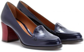 Fendi Brogued Boxcalf Loafers - Lyst