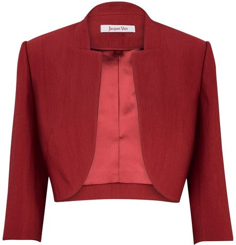 Jacques Vert Cranberry Tailored Bolero in Red