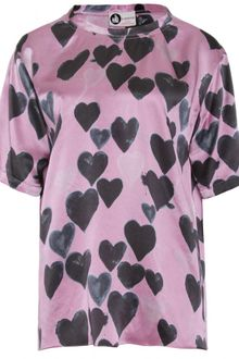 Lanvin Silk Printed Top with Hearts - Lyst