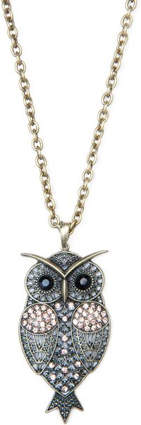 Mango Owl Pendant Necklace in Silver (94) - Lyst