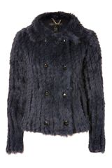 Marc By Marc Jacobs Deep Indigo Karina Fur Jacket - Lyst