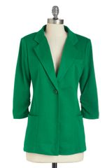 ModCloth Couldnt Agreen More Blazer - Lyst