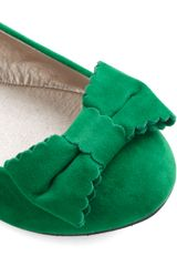 Modcloth Sonata Moment Too Soon Flat in Green - Lyst