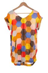 Modcloth Mosaic Teacher Top in Orange - Lyst