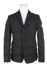 Moncler Gamme Bleu Downblazer in Polyamide Fiber with A Trompe Loeil Tweed Effect - Lyst