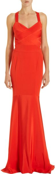 Narciso Rodriguez Strappy Cutout Back Gown - Lyst