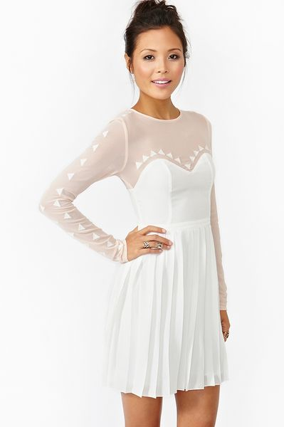 Nasty Gal Cafe Flora Dress in White (cafe) - Lyst