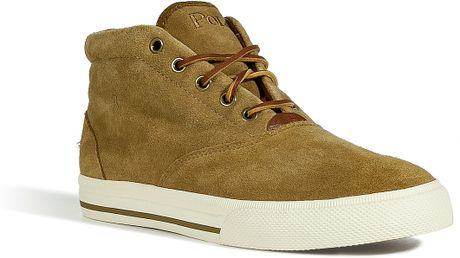Polo Ralph Lauren Dirty Buck Oiled Suede Zale Sneakers in Green for