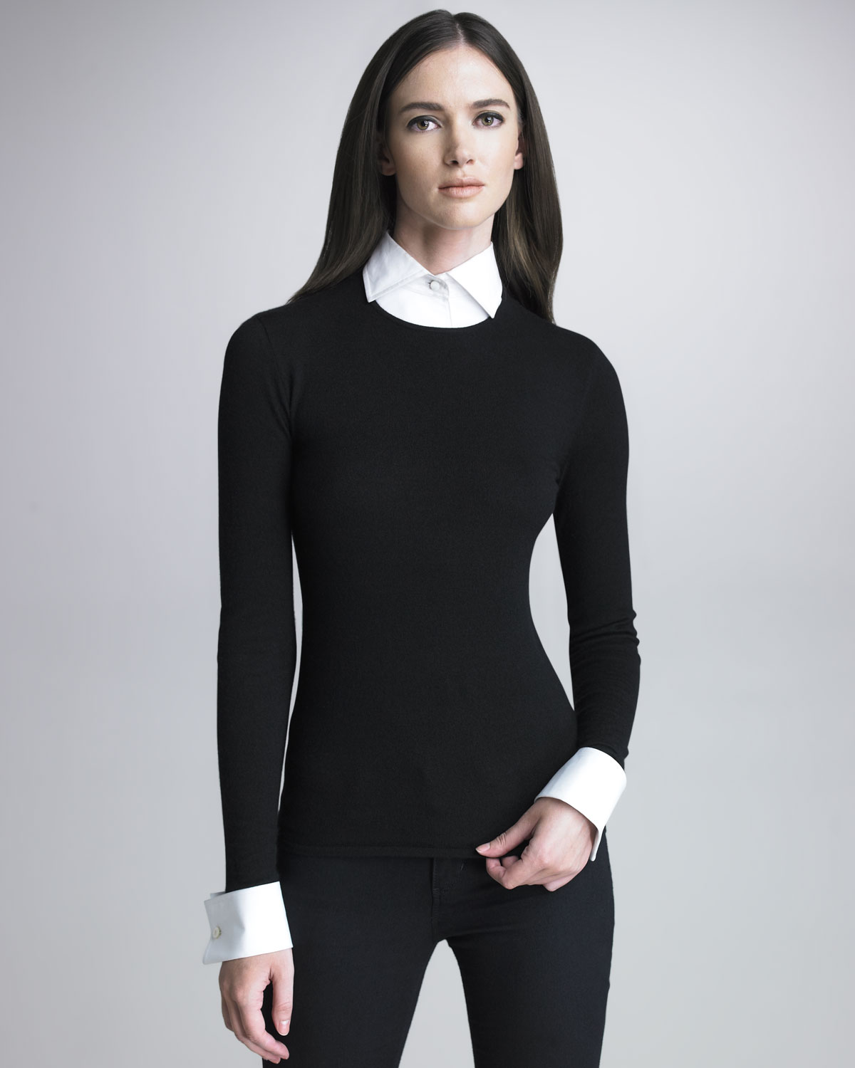 Lyst Ralph Lauren Black Label Sweater With Removable Cuffs And