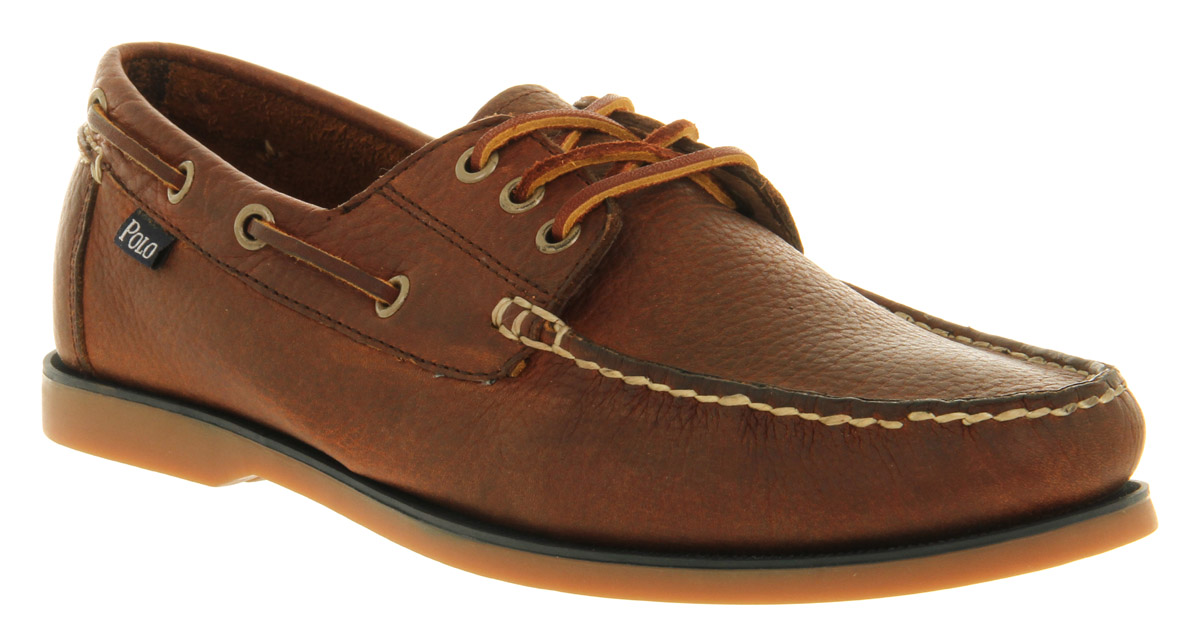 Ralph lauren Bienne Boat Shoe Tan Leather in Brown for Men | Lyst