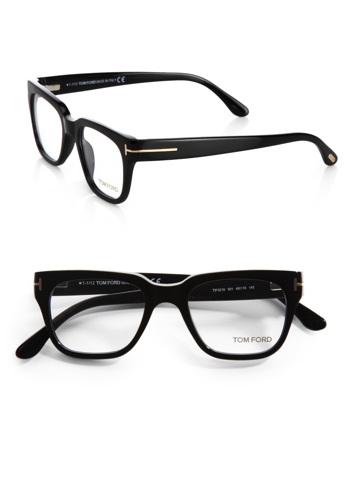 Lyst - Tom Ford Plastic Optical Frames in Black for Men