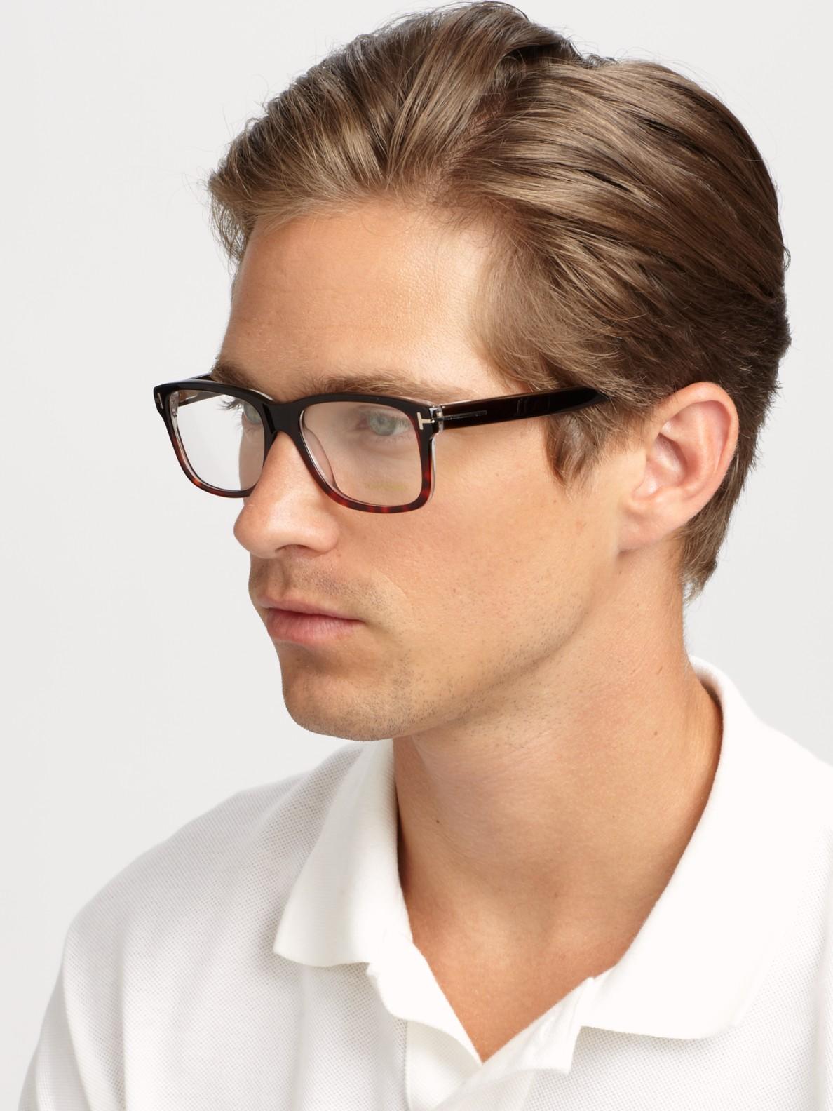 lyst tom ford 5163 square optical frames in brown for men. Black Bedroom Furniture Sets. Home Design Ideas
