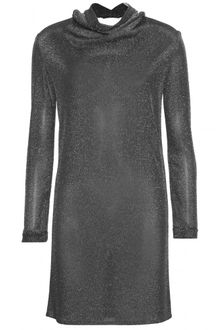 Yves Saint Laurent Metallic Knit Dress - Lyst