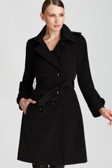 Calvin Klein Double Breasted Rain Trench - Lyst