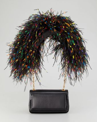 Christian Louboutin Artemis Ostrich Feather Shoulder Bag - Lyst