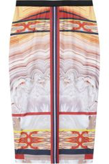 Clover Canyon Printed Stretchjersey Pencil Skirt in Multicolor (multicolored) - Lyst