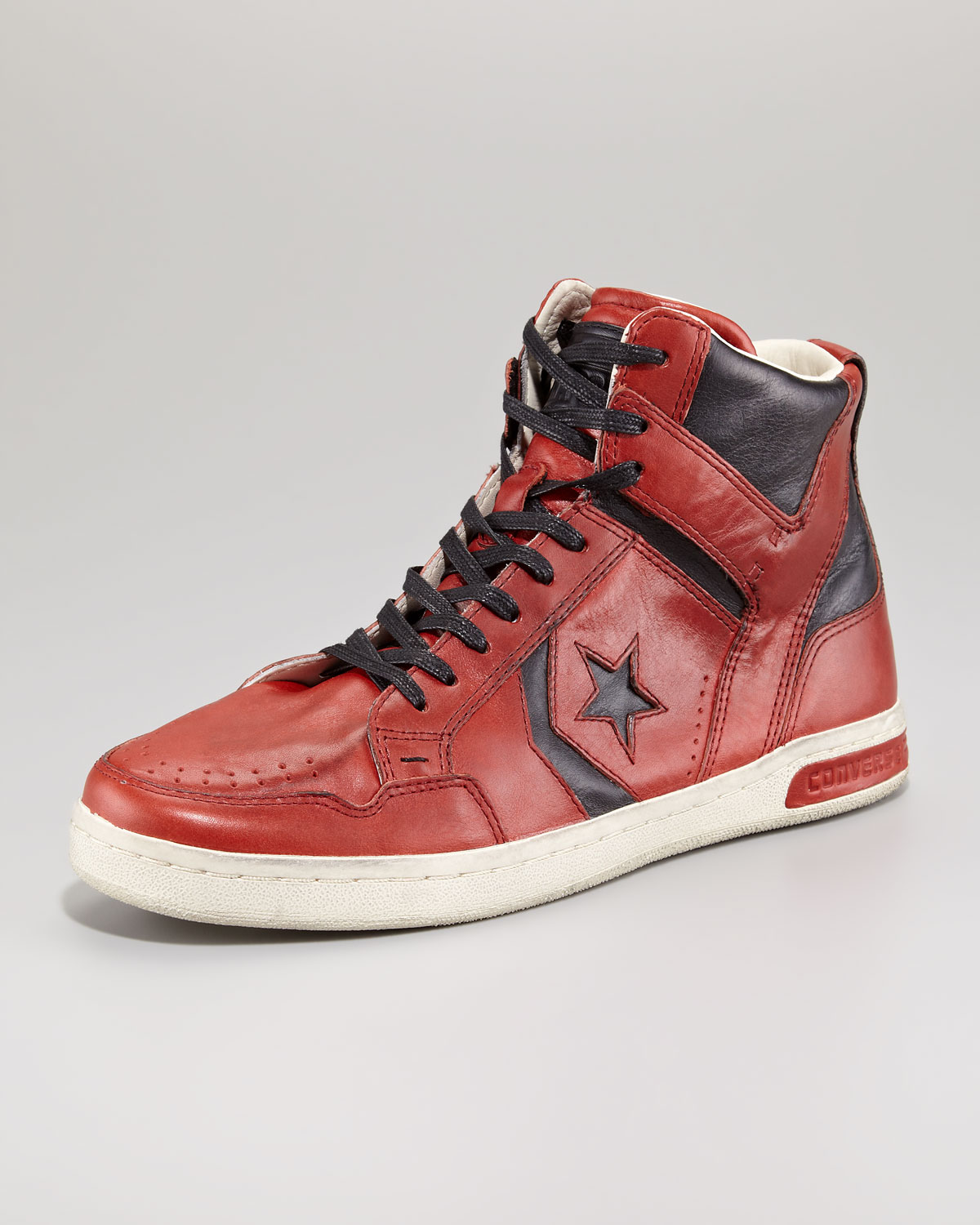 Converse Red & Black Cleveland High-Top Sneakers 10qXviq
