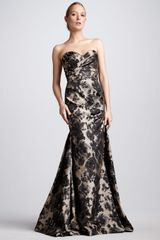 David Meister Signature Jacquard Sweetheart Gown - Lyst