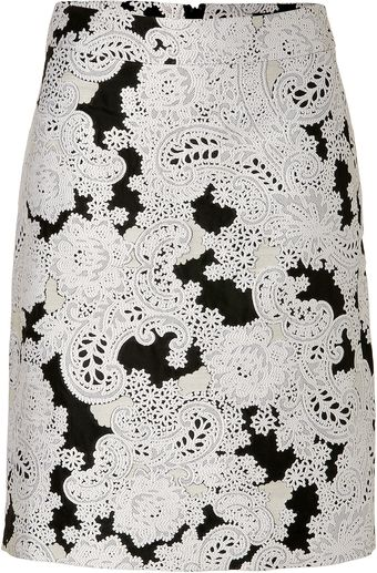 Derek Lam Blackwhite Jacquard Pencil Skirt - Lyst
