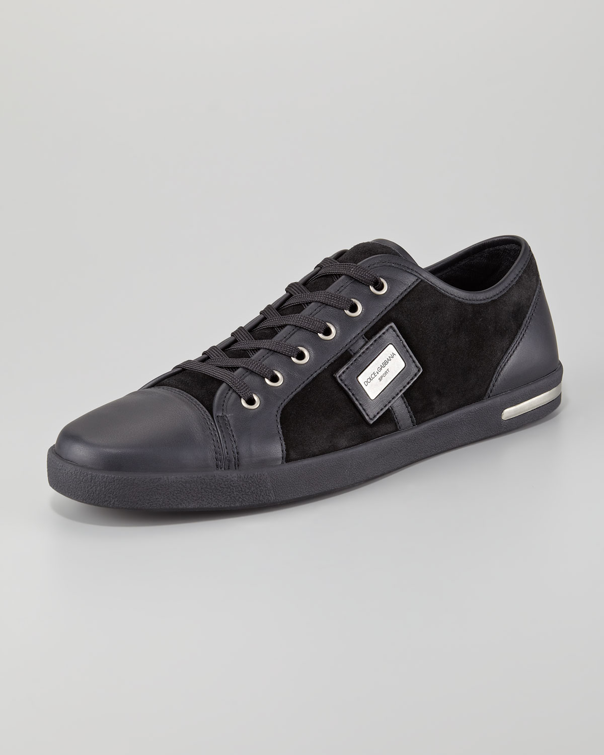 eba72e765805a Dolce & Gabbana Metal Logo Sneaker in Black for Men - Lyst