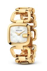 Gucci G 18k Yellow Gold Pvd Mother Of Pearl Watch 24mm - Lyst