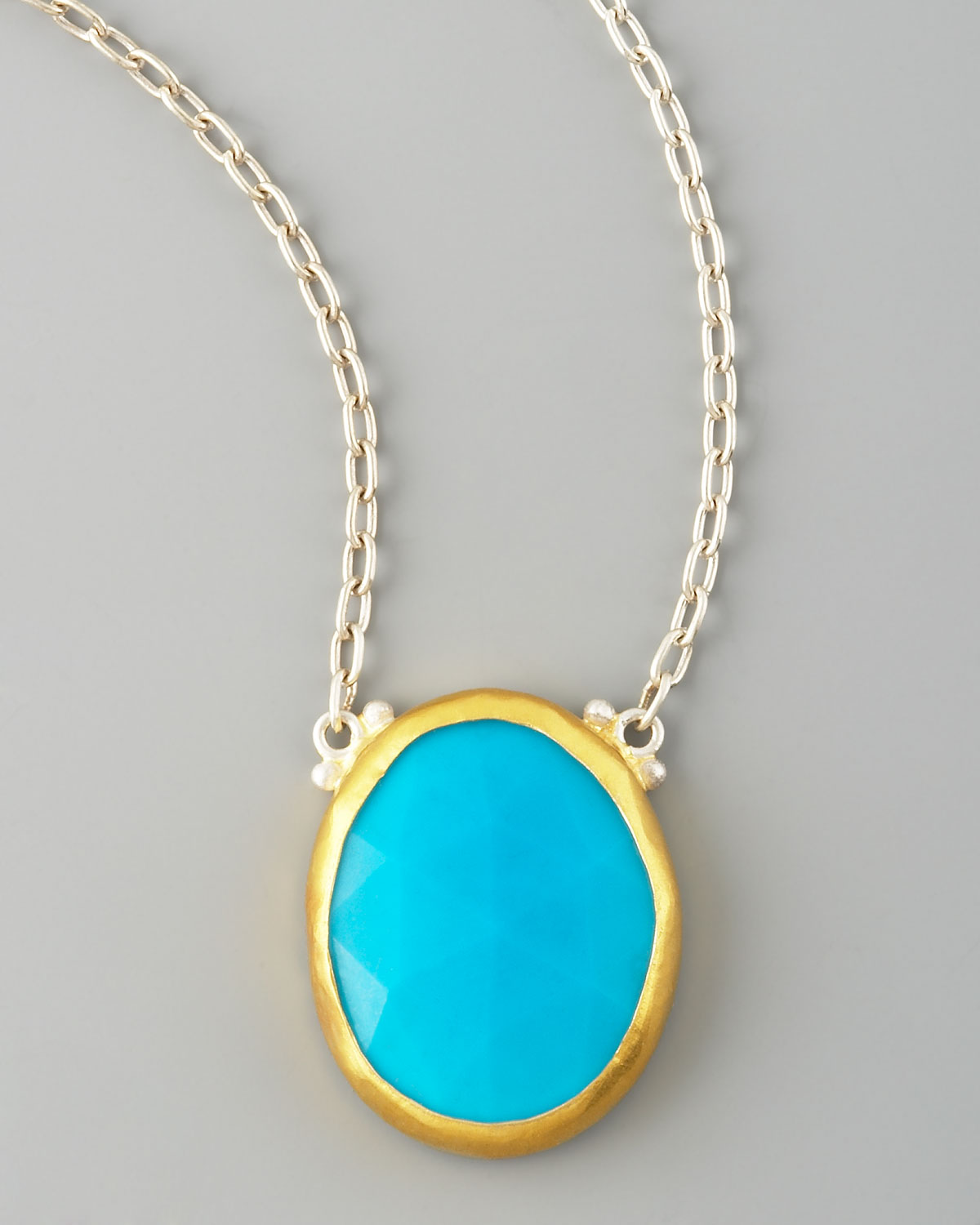 chaco d canyon sterling turquoise kingman round blue wchain products w silver with pendant chain