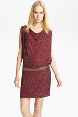 Haute Hippie Beaded Drop Waist Dress - Lyst