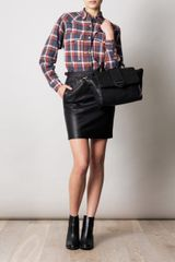 Isabel Marant Acca Leather Skirt in Black - Lyst