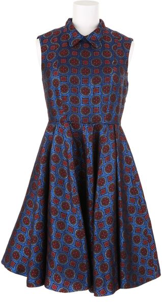 Kenzo Sleeveless Dress in A Jacquard Blend Of Viscose - Lyst
