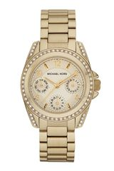 Michael Kors Mini Blair Watch Golden - Lyst