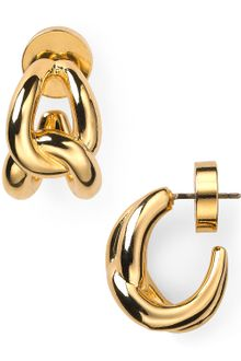 Michael Kors Love Knot Hoop Earrings - Lyst