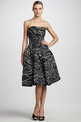 Naeem Khan Scallopprint Party Dress - Lyst