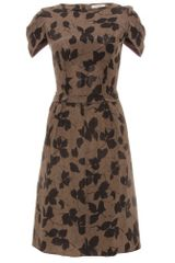 Nina Ricci Silk Print Dress - Lyst