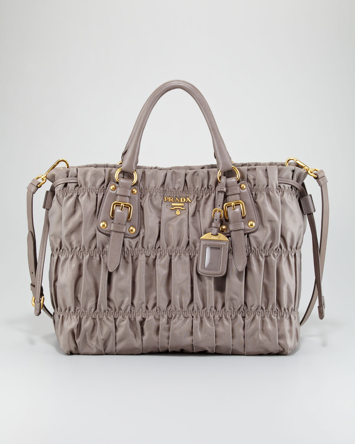 af9412e178f3 ... discount code for new zealand lyst prada tessuto gauffre large tote in  gray 2e6c4 9412e 29c8a