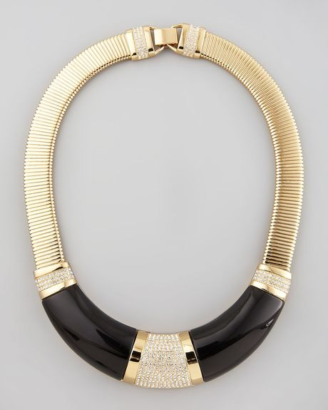 Rachel Zoe Collar Necklace  in Black - Lyst