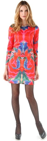 Temperley London Lotus Print Shift Dress - Lyst