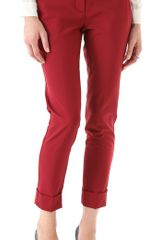 Theory Daniya Tailor Pants in Red (flame) - Lyst