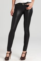 7 For All Mankind Jeans High Shine Gummy Skinny in Black - Lyst