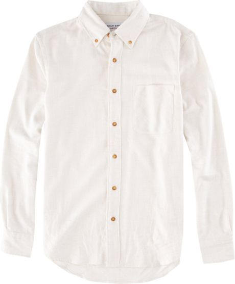Adam Kimmel X Carhartt Solid Flannel Shirt In White For